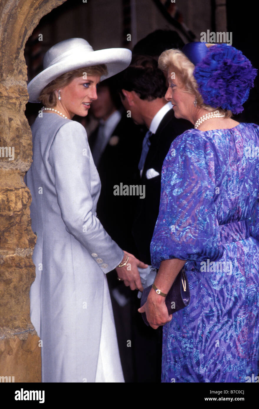 Princess Diana With Her Mother Frances Shand Kydd At The