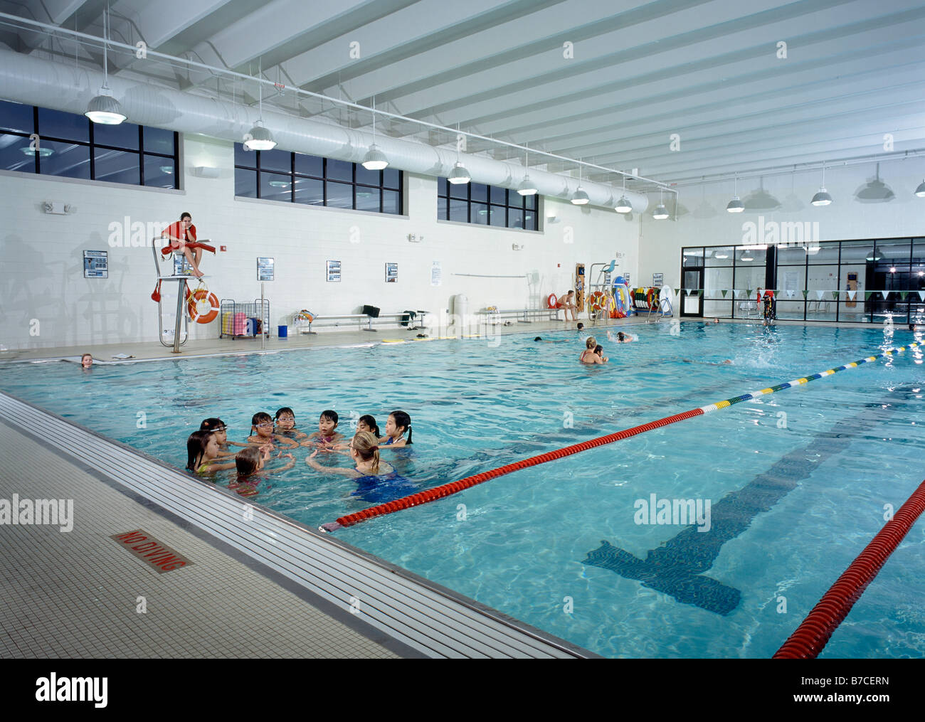 Children Instructor At Swimming Lessons Ymca Pool Lexington Stock Photo Royalty Free Image