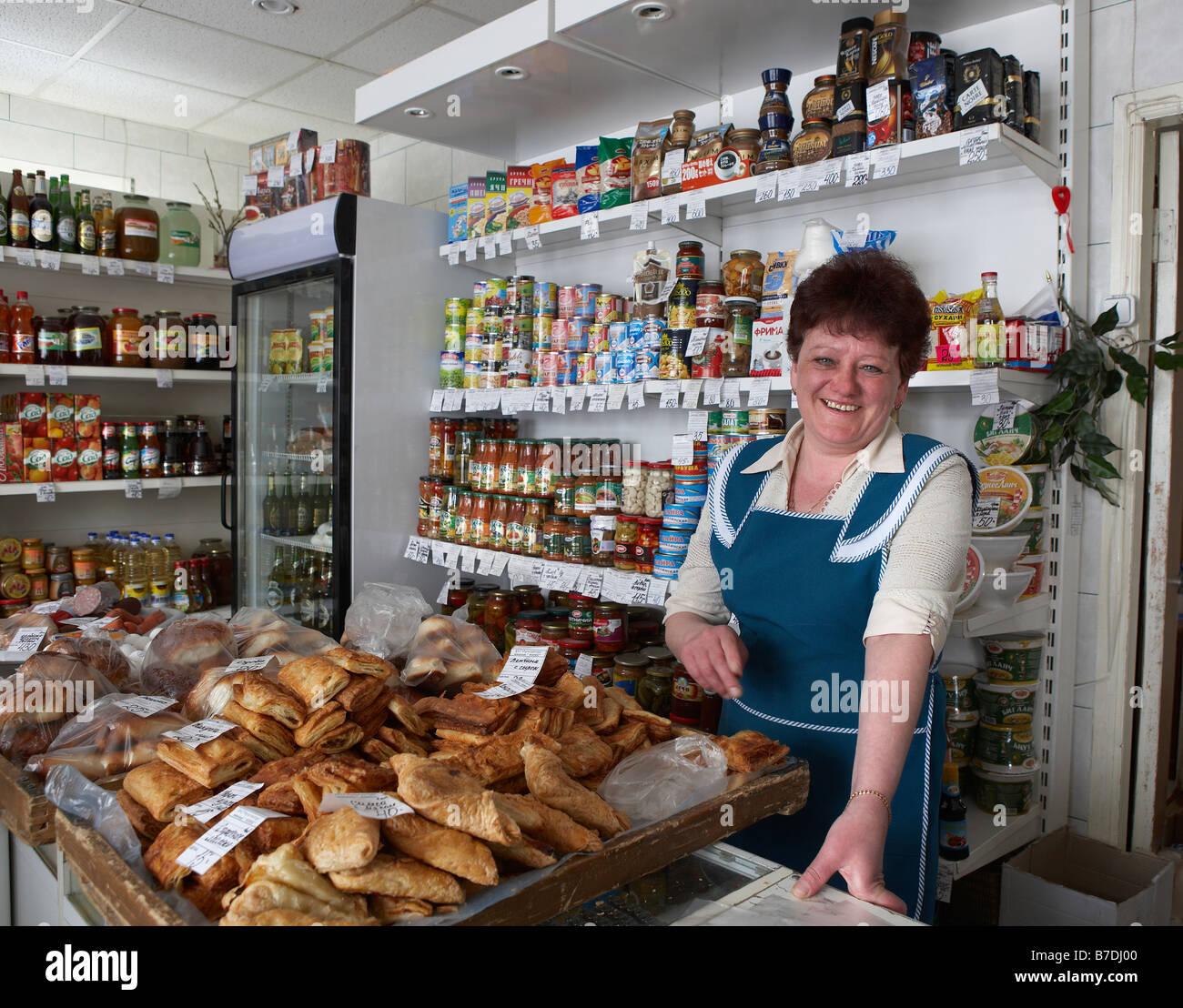 s clerk at store amguema chukotka siberia russia stock s clerk at store amguema chukotka siberia russia
