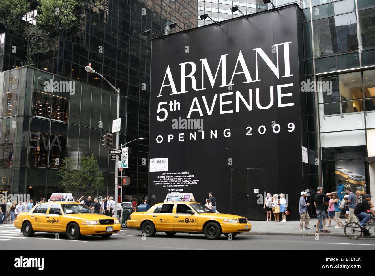 Armani Shop, Fifth Avenue, Manhattan, New York City, USA Stock ...