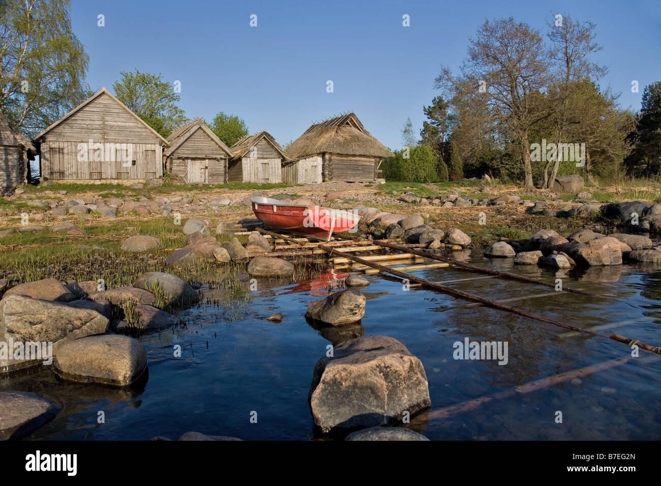 Altja fishing village l ne viru county lahemaa national park estonia europe
