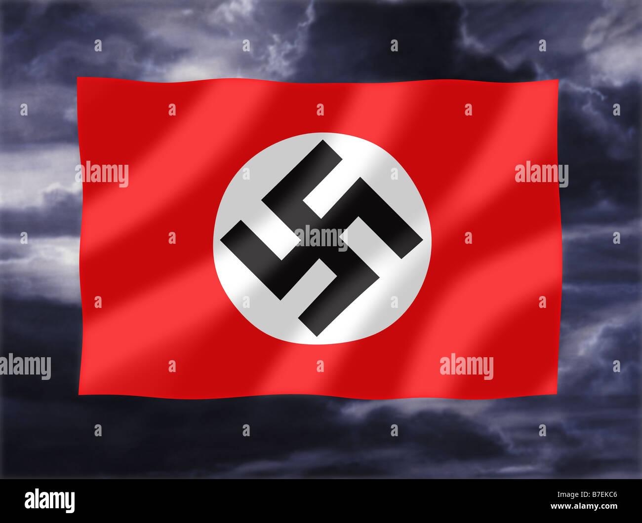 Nazi symbol stock photos nazi symbol stock images alamy nazi flag waving against stormy sky stock image biocorpaavc Image collections