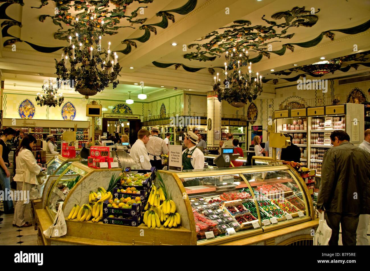 Harrods London most famous department store Knightsbridge ...
