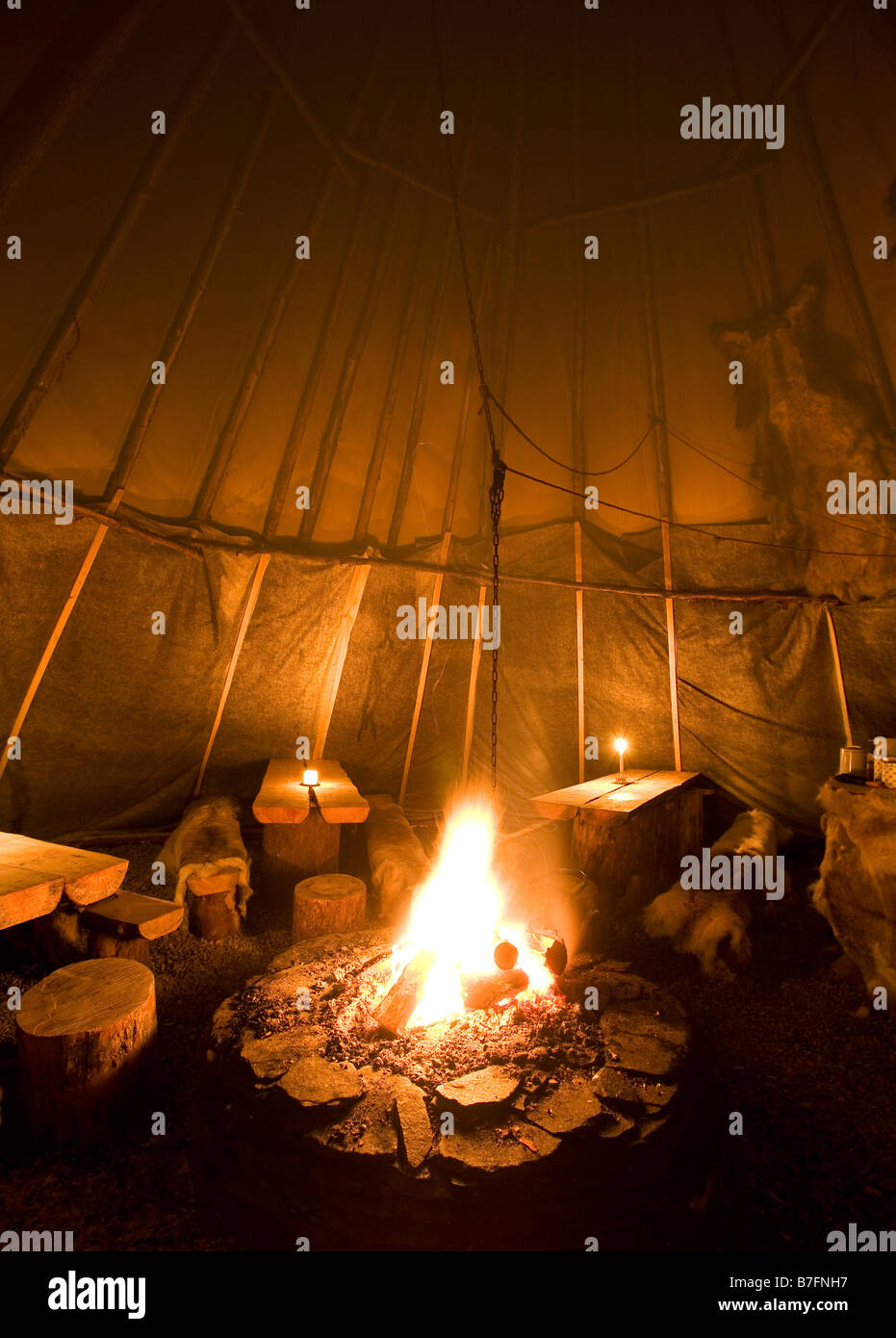 Traditional Sami Tent ( Lavvo ) Troms Region Norway & Traditional Sami Tent ( Lavvo ) Troms Region Norway Stock Photo ...