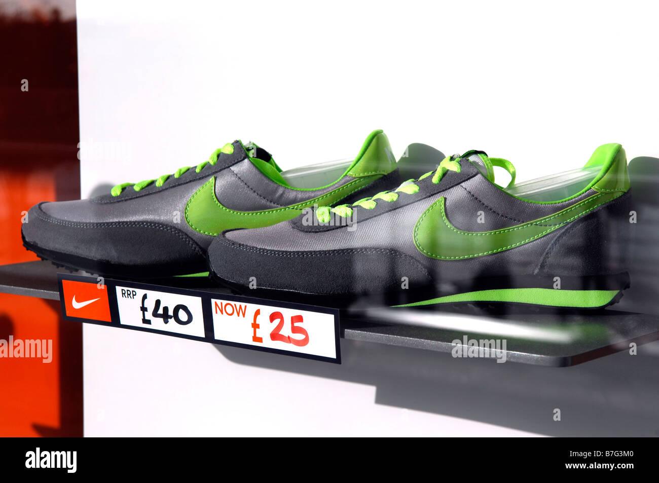 nike footwear trainers training shoes window display reduced american  company fashion retail shop store niketown -