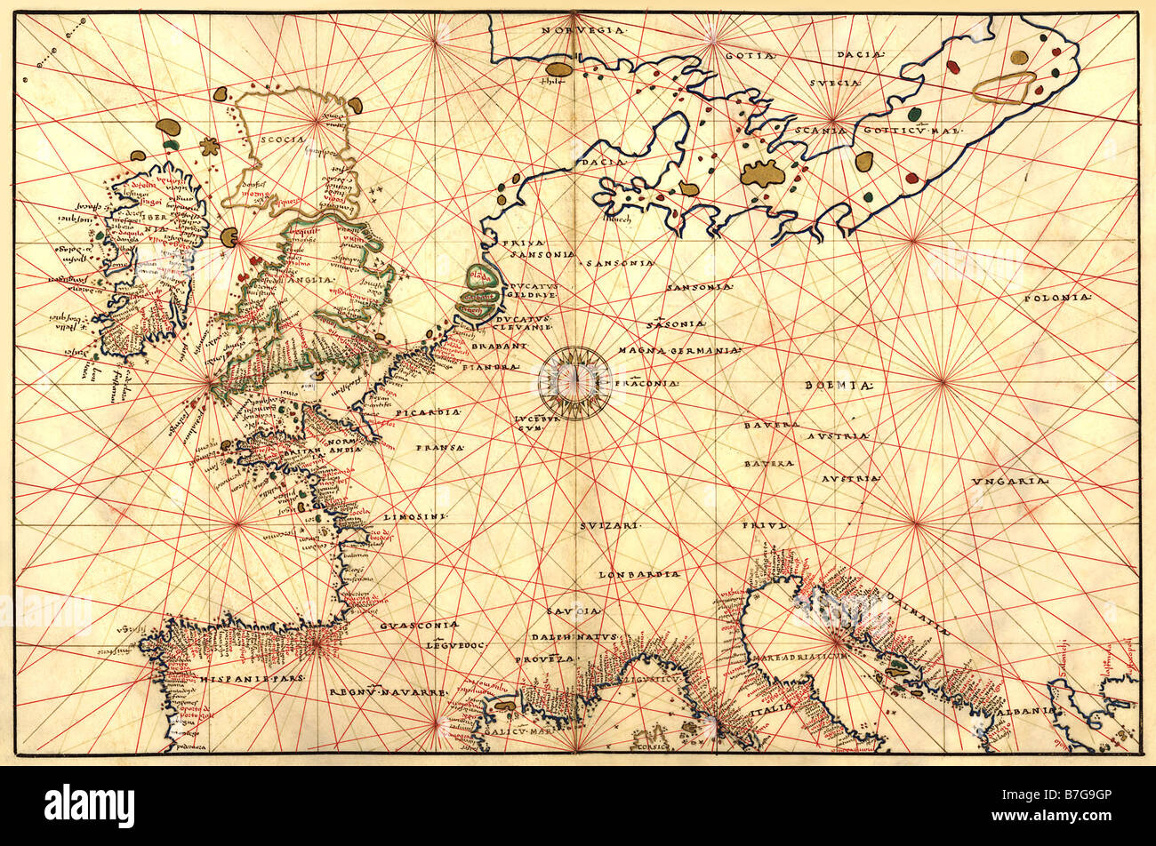Atlas Map Germany Photos and Atlas Map Germany Images – Map of Germany and England