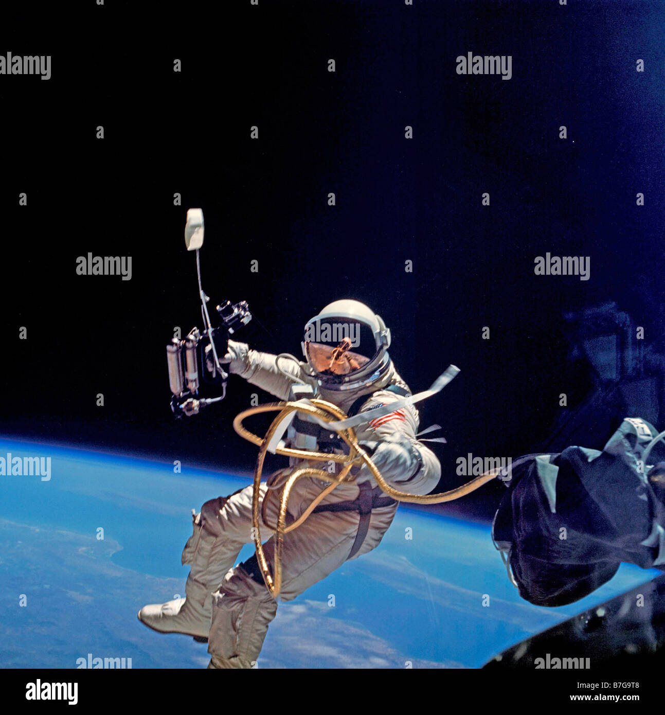 NASA Astronaut Ed White first space walk in 1965 Stock ...