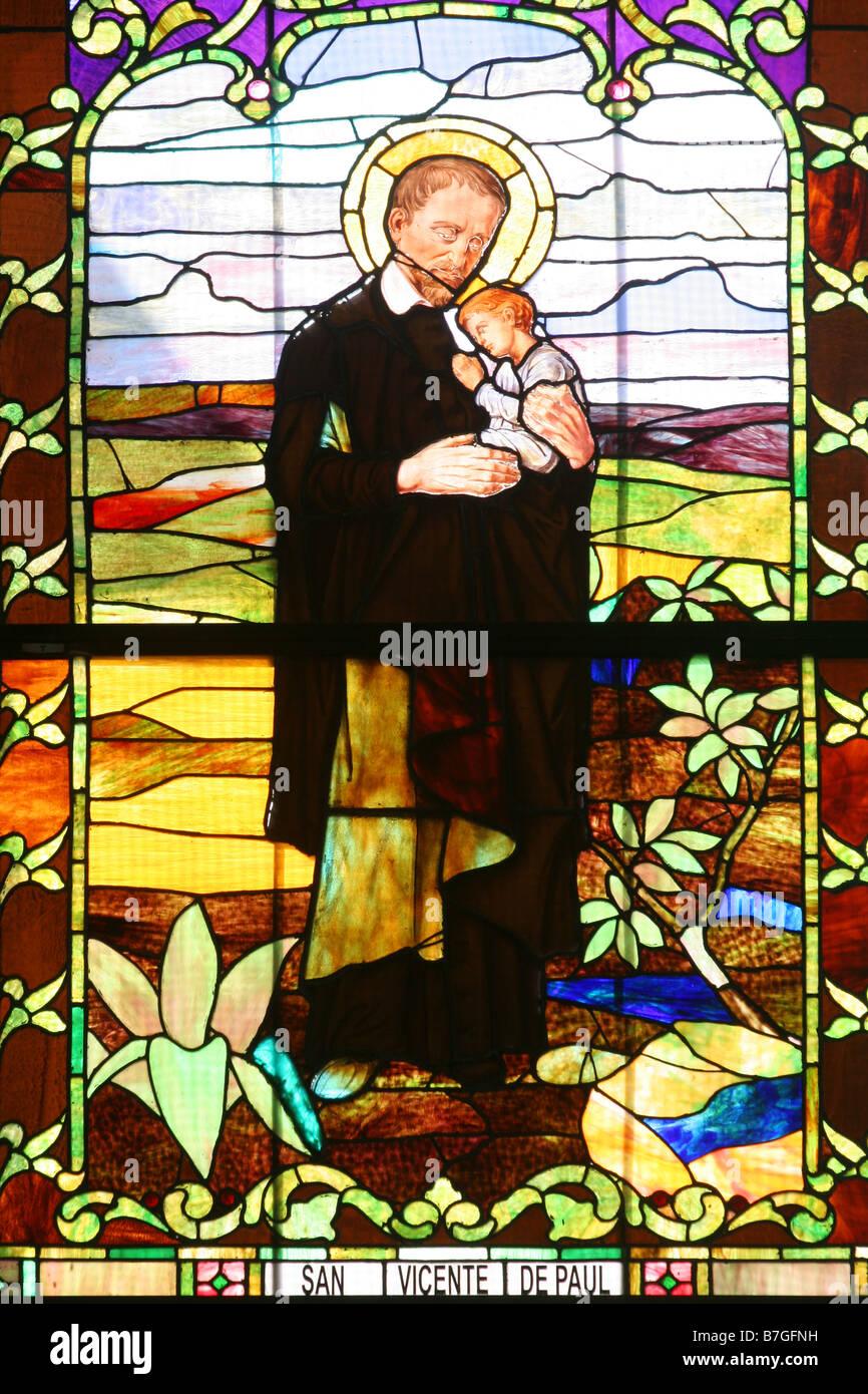 Saint vincent of paul san vicente de paul vitral at the for Piscina san vicente de paul