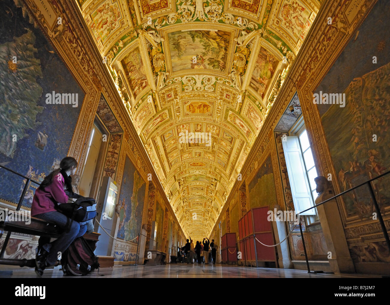 Hall of Maps Vatican Museums Vatican City Rome Italy Europe Stock
