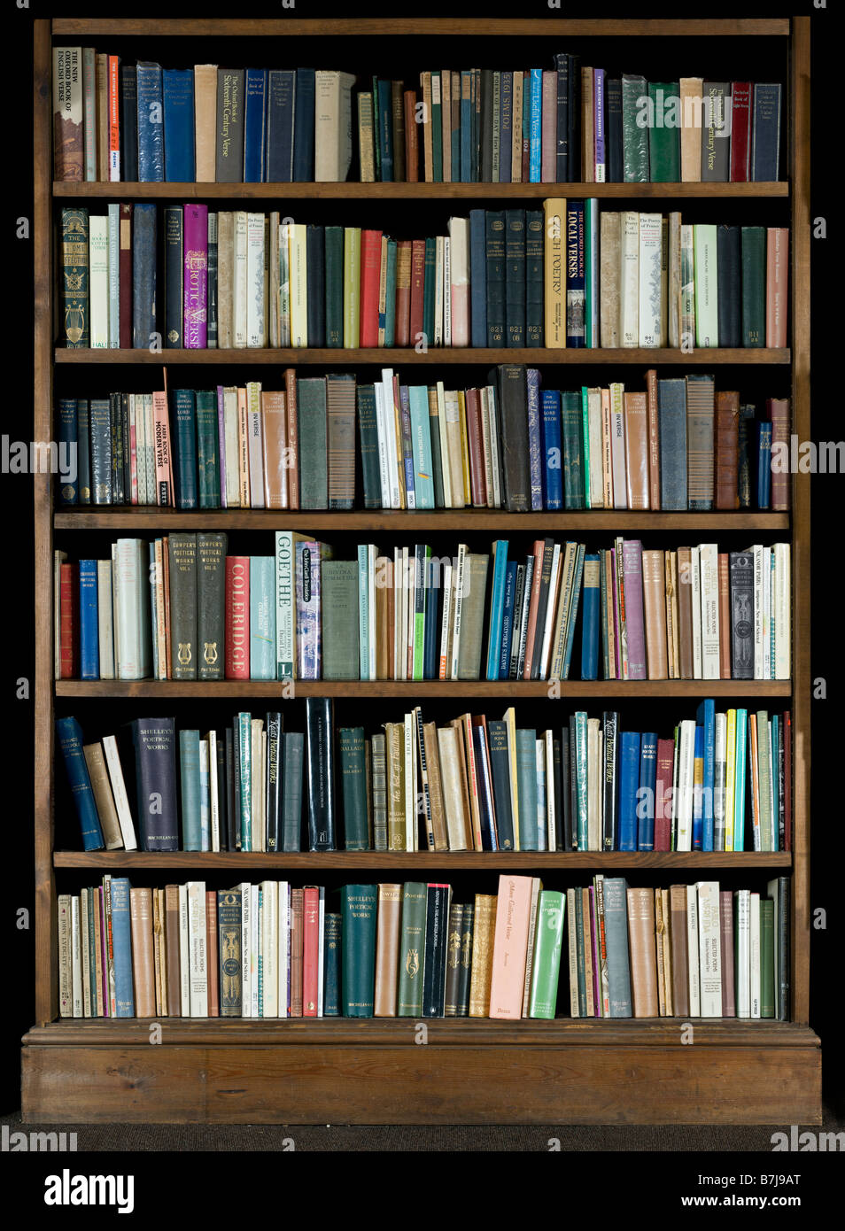 high resolution image of books on a bookshelf on a black background - Picture Of Book Shelf