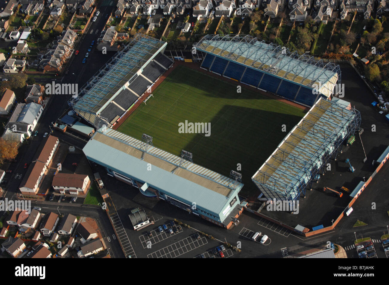 aerial view of rugby park football stadium  home of kilmarnock stock photo  royalty free image