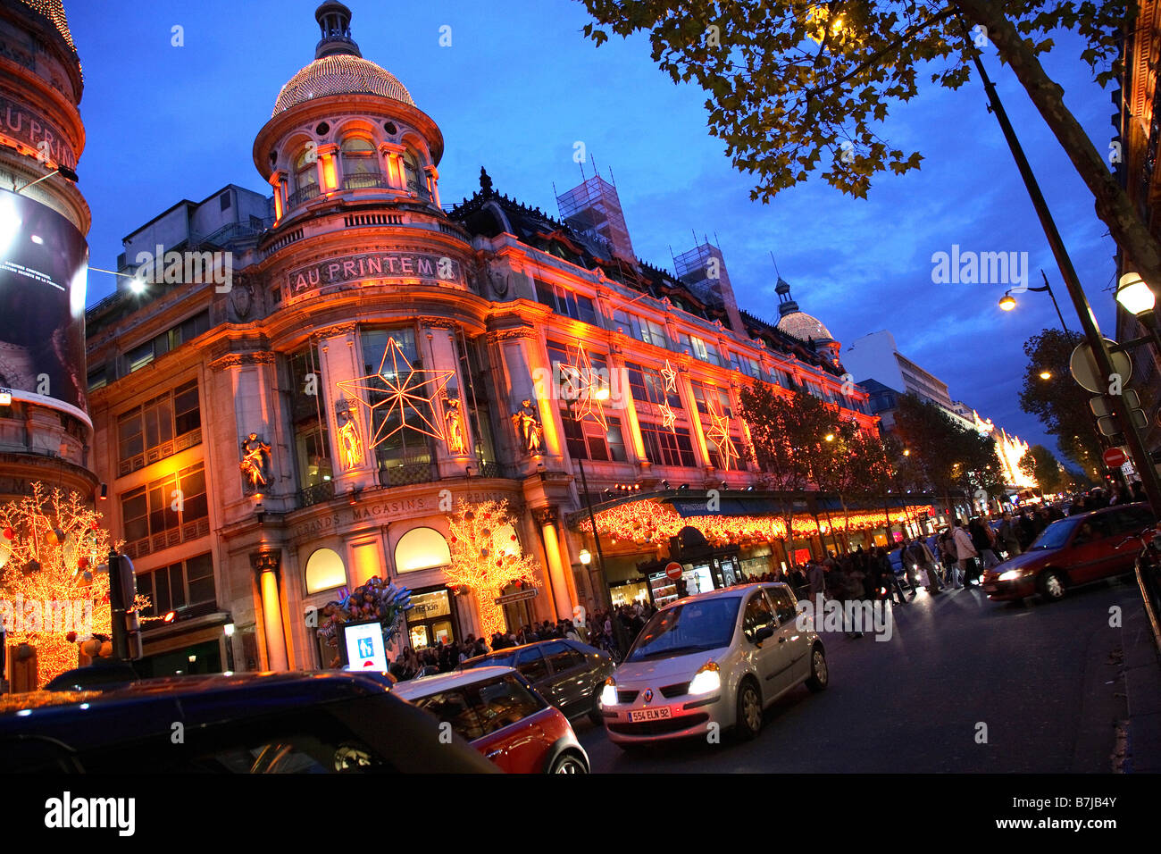 Paris france printemps department store on boulevard haussmann at stock photo - Meubles printemps haussmann ...