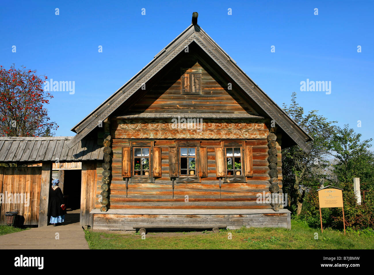 Traditional 19th Century Russian House At The Museum Of