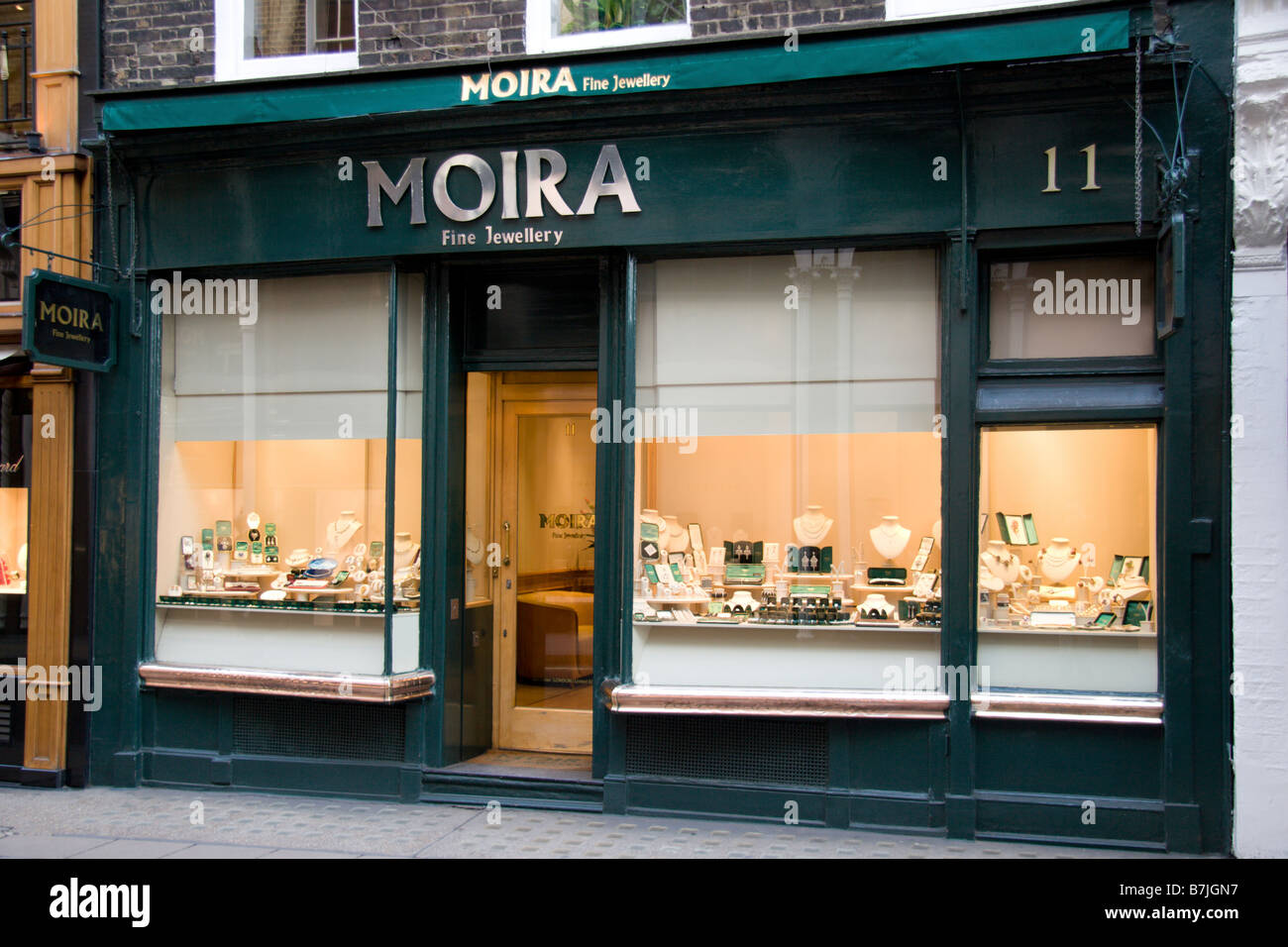 Front Elevation Of Jewellery Showroom : The shop front of moira fine jewellery store on new