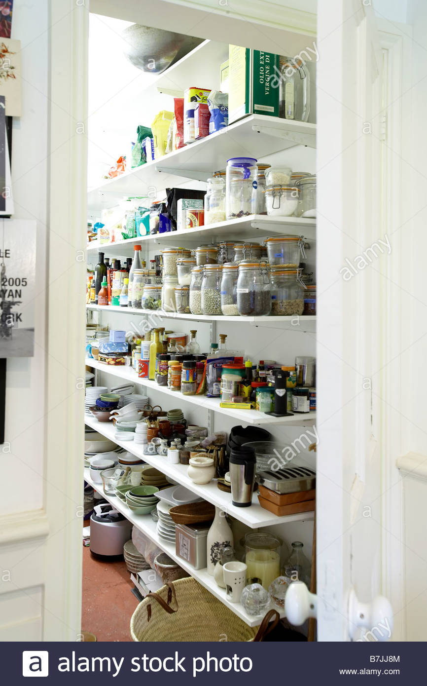 Kitchen Store Room Kitchen Pantry Storeroom Jars Packets Stock Photo Royalty Free