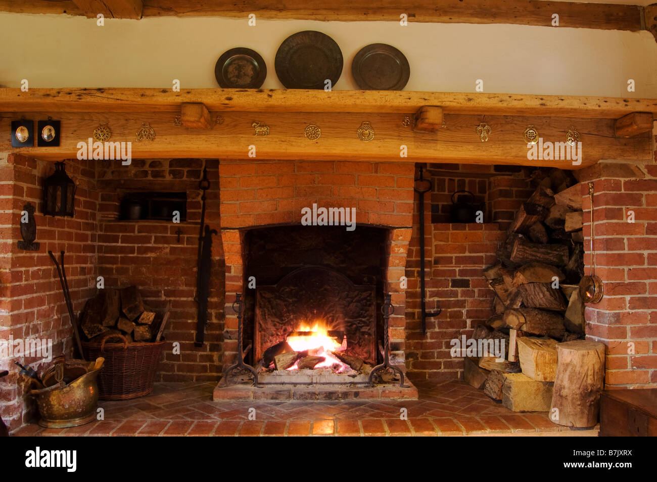 inglenook fireplace Stock Photo, Royalty Free Image: 21929150 - Alamy
