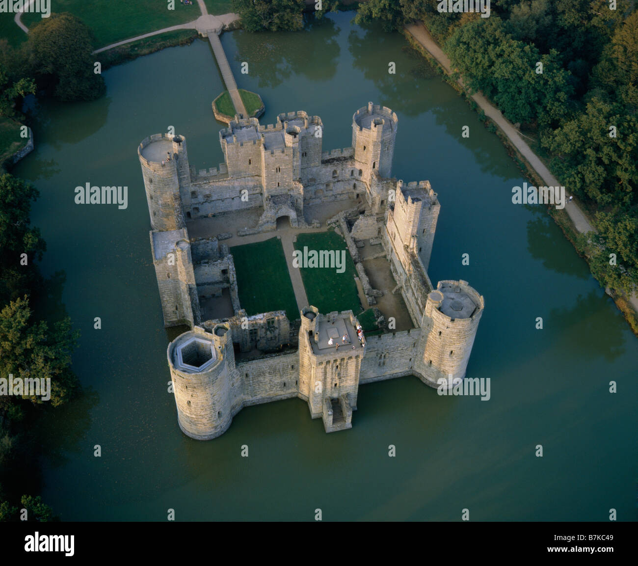 Bodiam Castle Sussex Aerial View Stock Photo Royalty Free