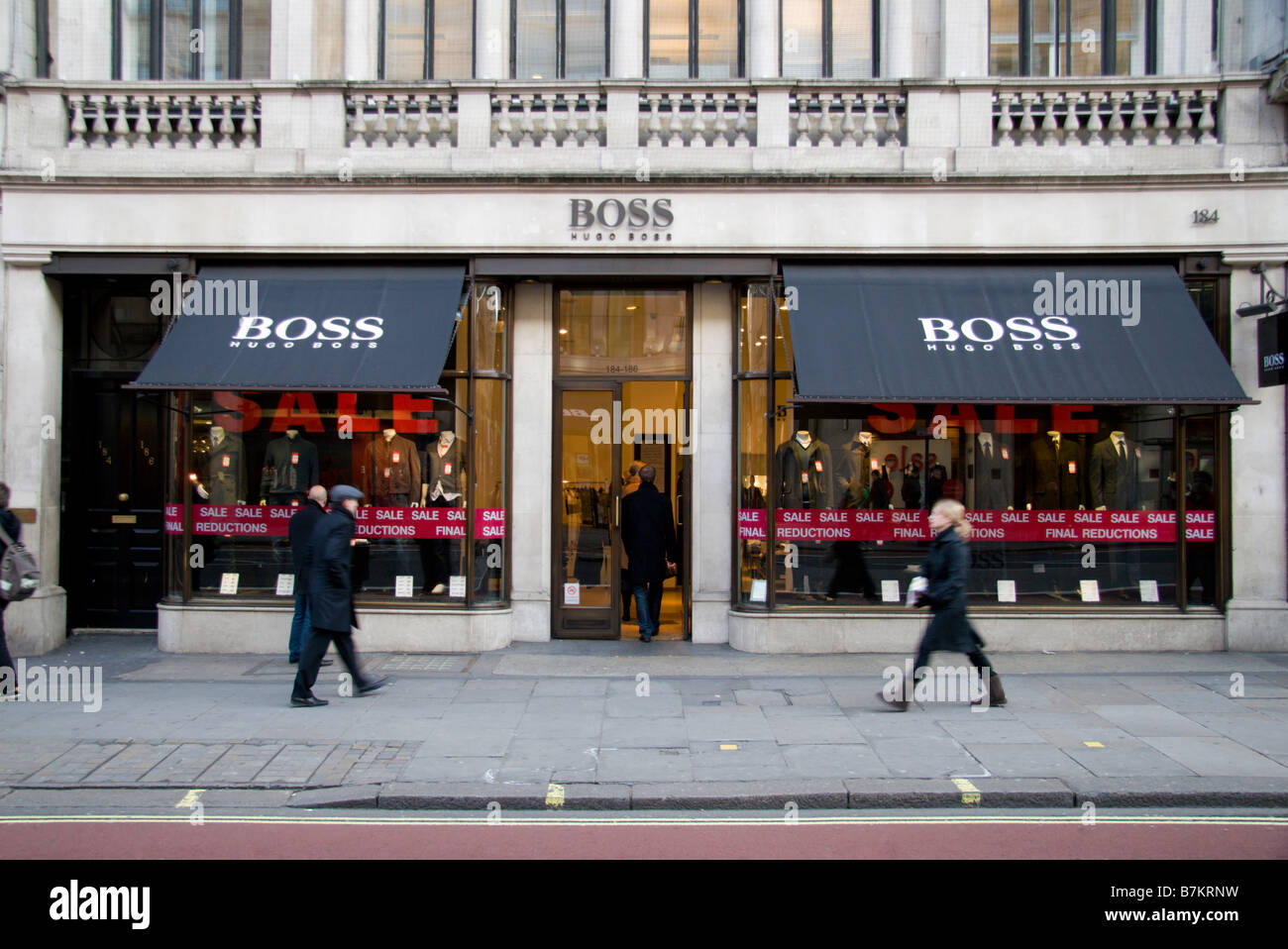 the shop front of the hugo boss fashion store regents street stock photo 21948693 alamy. Black Bedroom Furniture Sets. Home Design Ideas