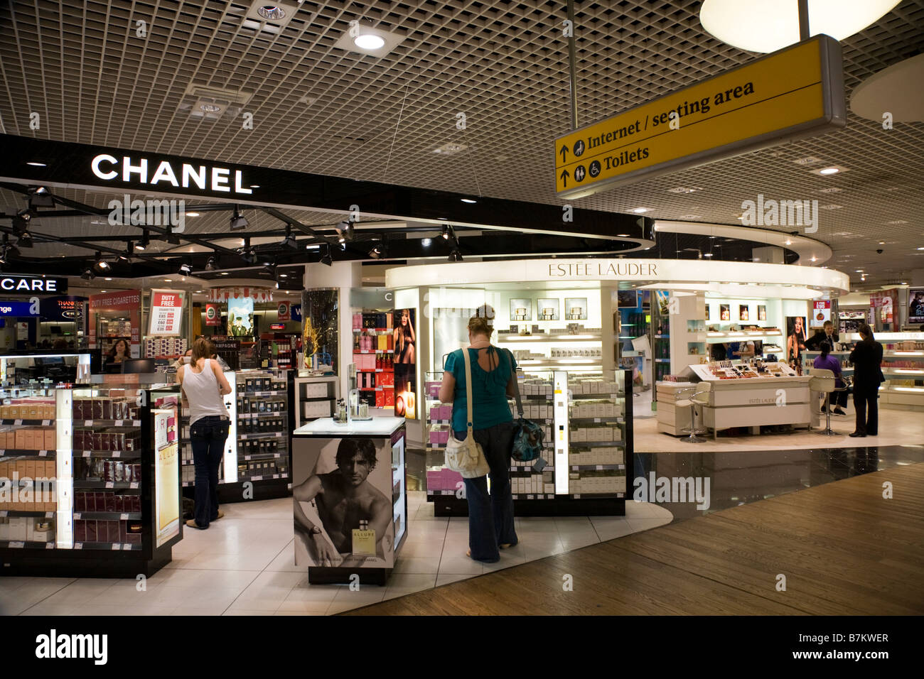 chanel outlet. luxury goods / chanel perfume perfumery cosmetics shop outlet in departure lounge at t