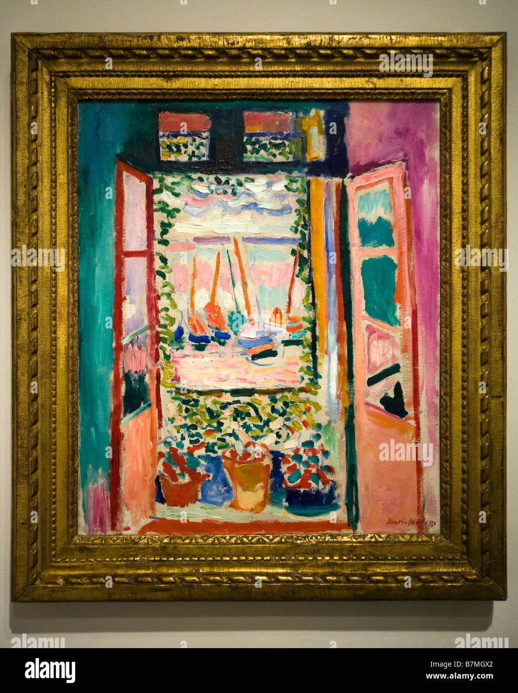 Open window collioure henri matisse 1905 the for Matisse fenetre ouverte collioure