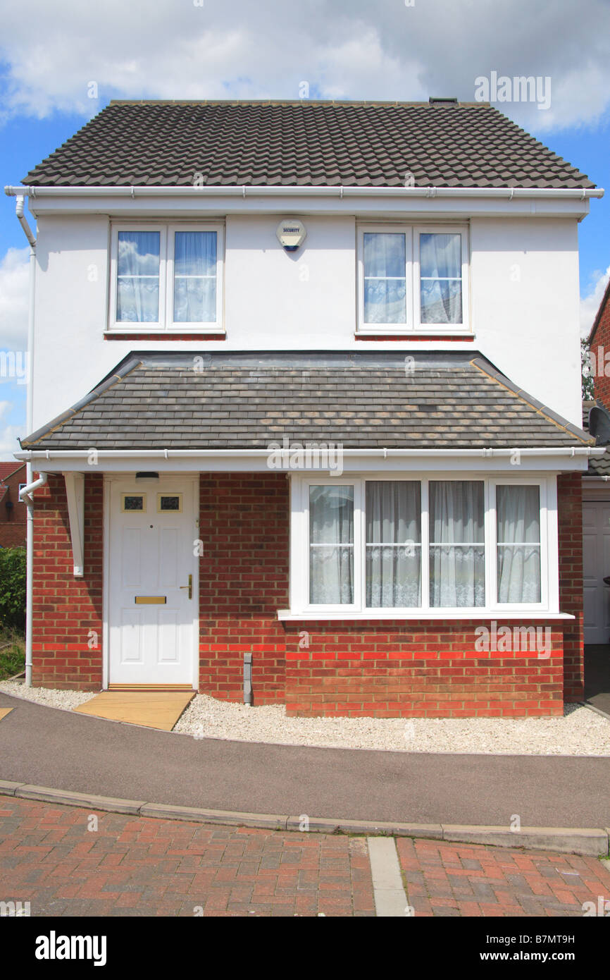 Detached House Home Front Door Window Roof Gutter Double Glave Small New  Alarm England Britain Europe