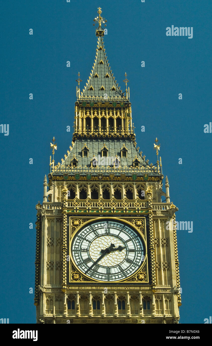 big ben clock tower close up houses of parliament in the city of