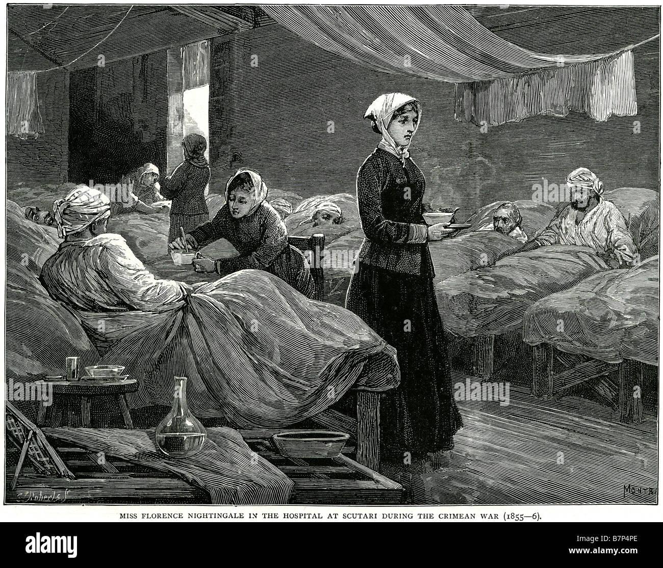 miss florence nightingale hospital scutari during crimean war 1855 ...