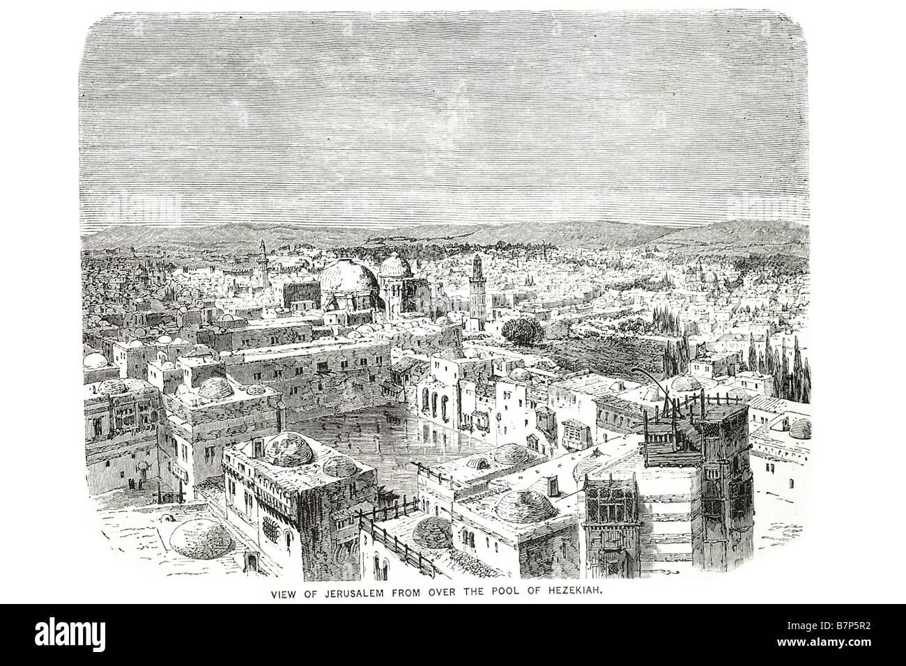 view jerusalem pool hezekiah god jesus bible holy testament old