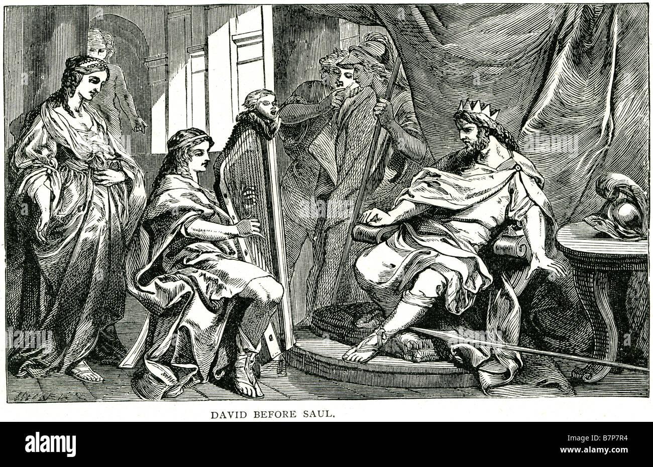 david before saul i samuel xvi 23 meeting harp player king god