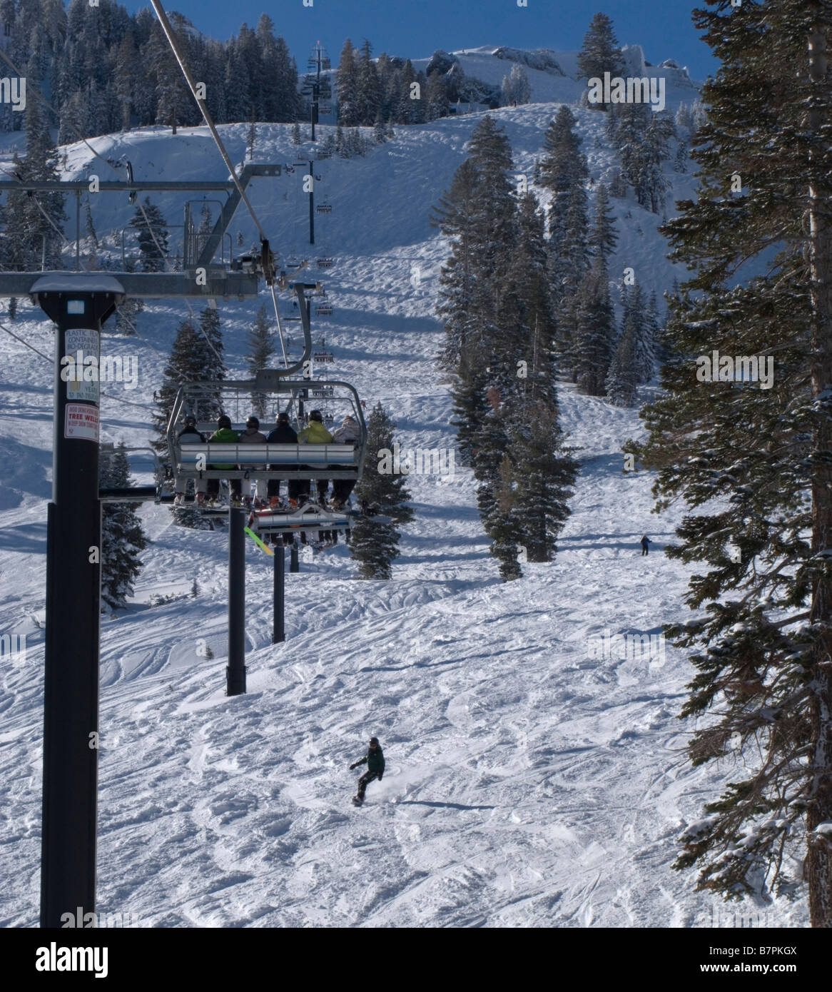 Summit Chair Lift summit chair lift stock photo six chairlift above the face run at