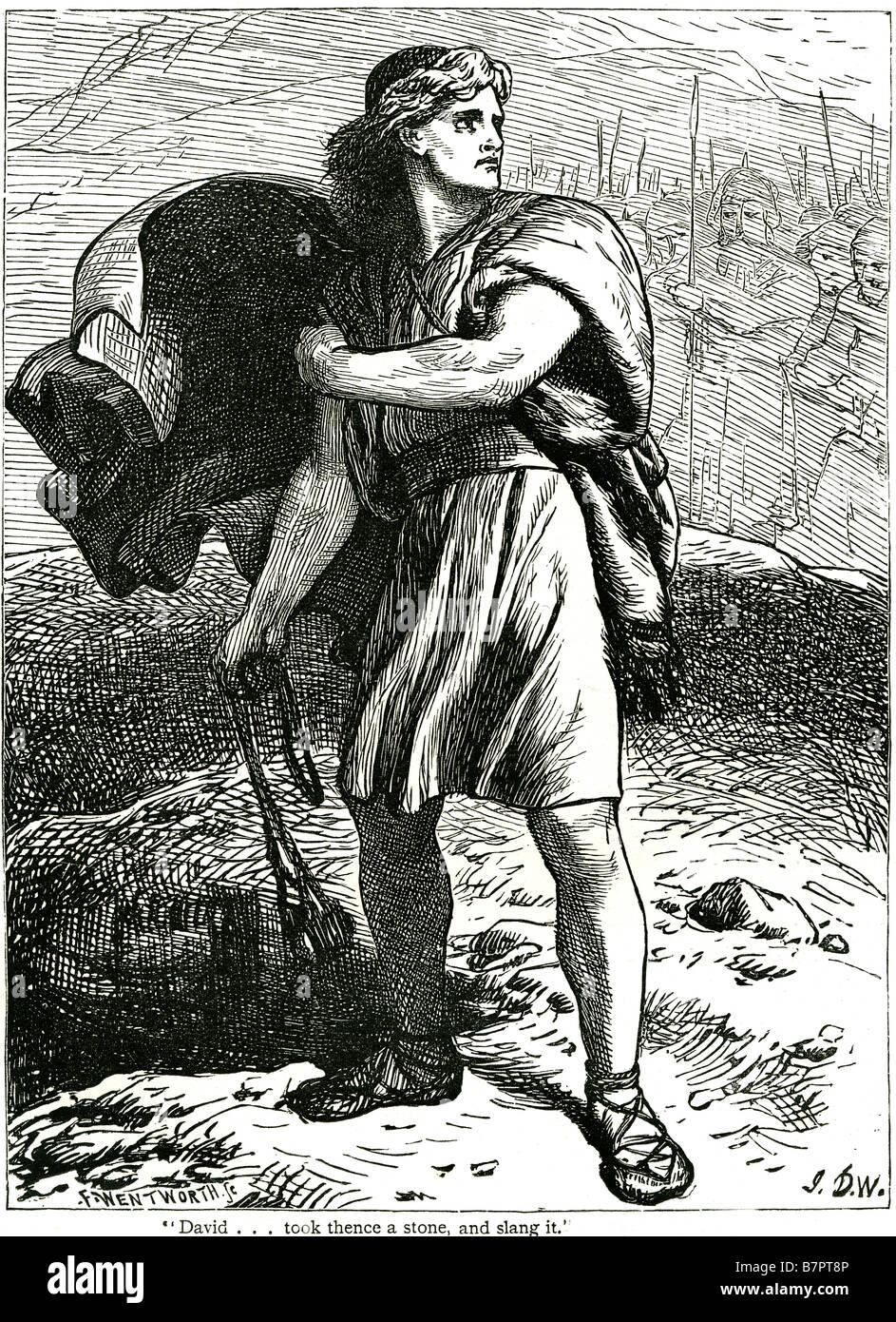 david goliath gath i samuel xvii 49 sling god jesus bible holy