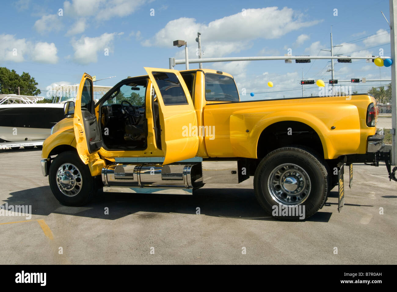 big yellow american pick up truck stock photo royalty free image 22018153 alamy. Black Bedroom Furniture Sets. Home Design Ideas
