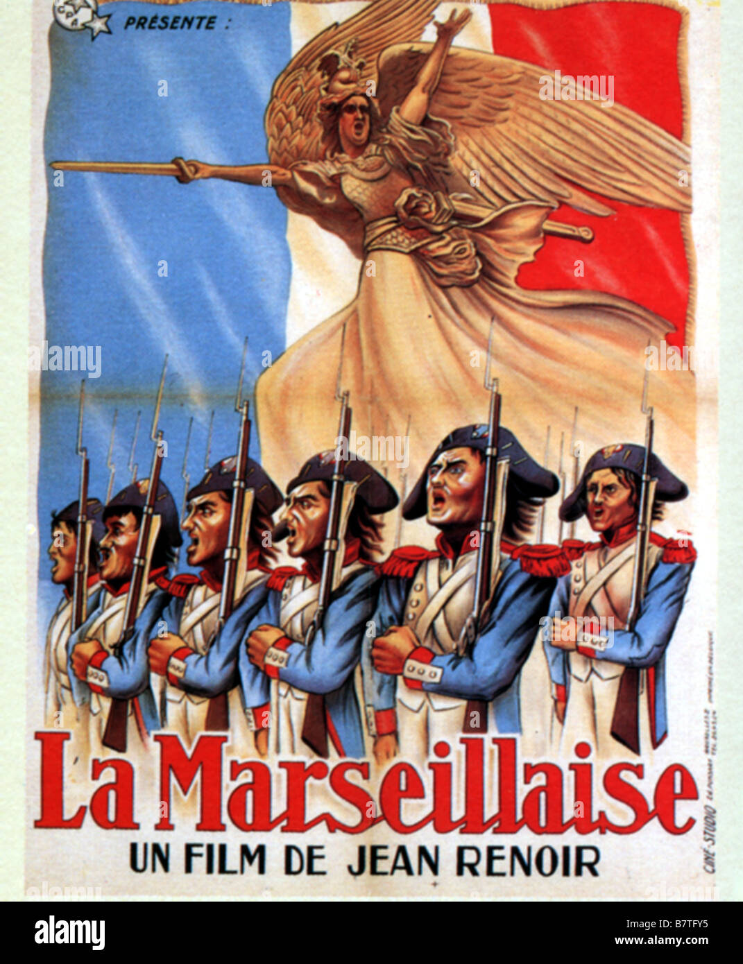 Marseillaise la marseillaise la ann e 1938 france affiche poster stock photo royalty free image for Poster revolution france