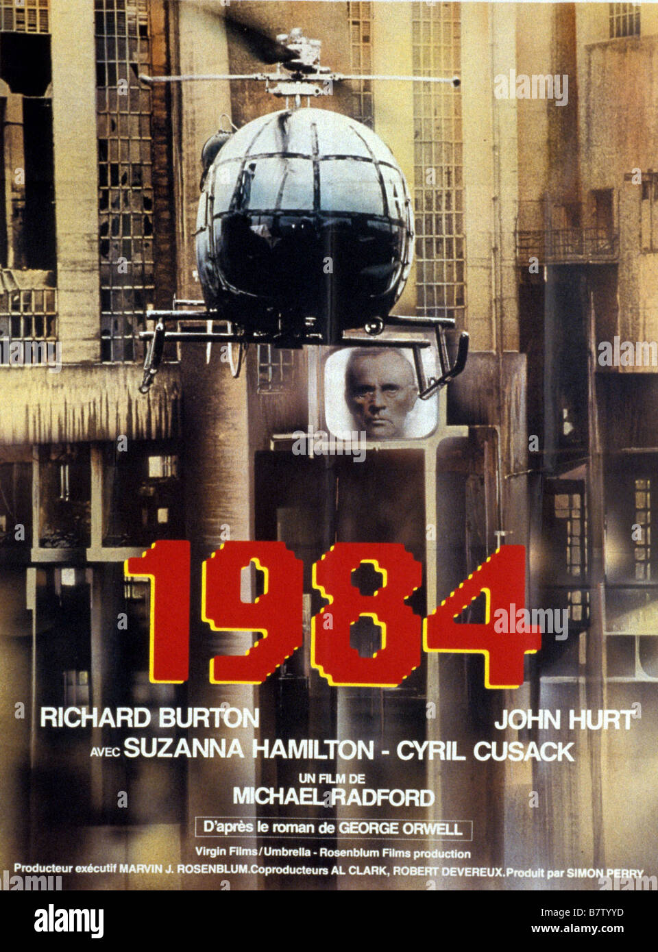 1984 Nineteen Eighty Four Année 1984 Angleterre Affiche Poster Stock ...