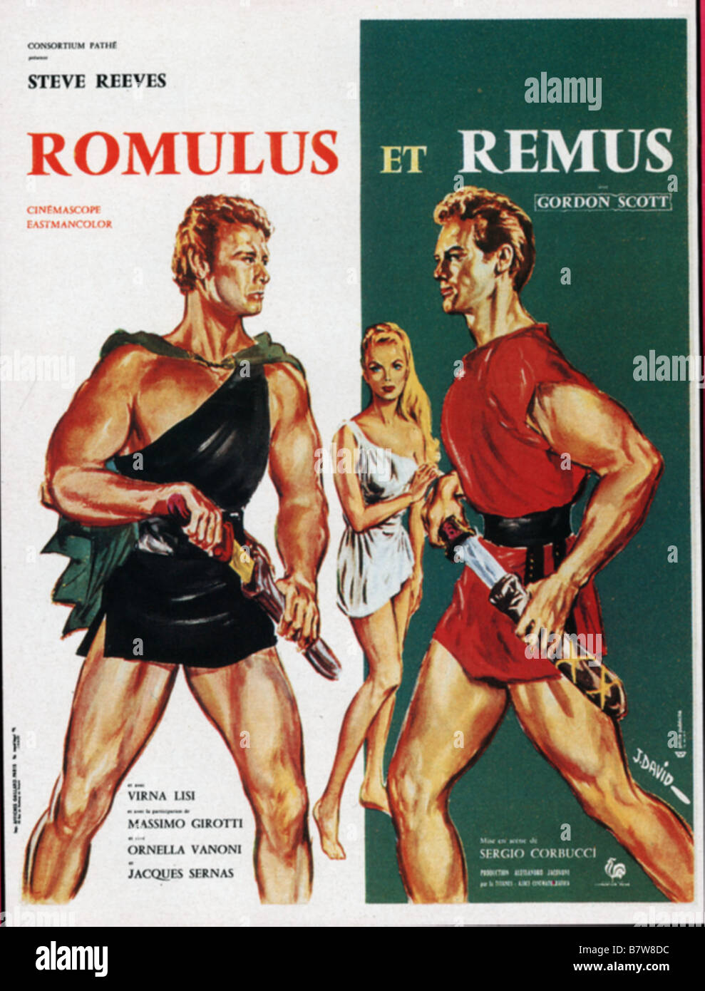 Romulus et remus romolo e remo ann e 1961 italy affiche poster stock photo royalty free image for Poster et affiche