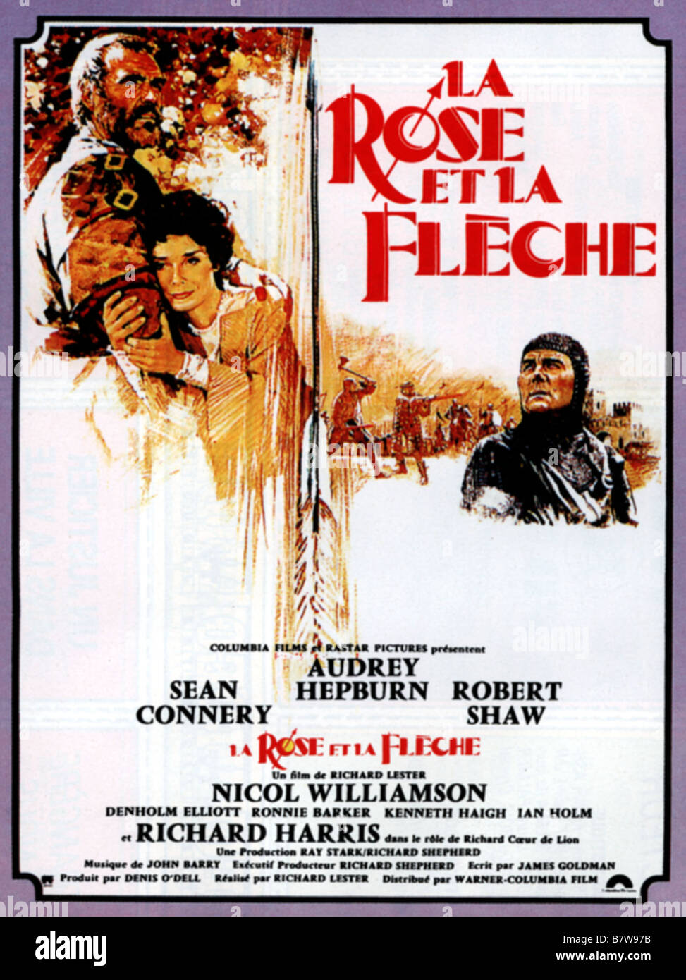 La rose et la fl che robin and marian ann e 1976 usa affiche poster stock photo royalty free for Poster et affiche