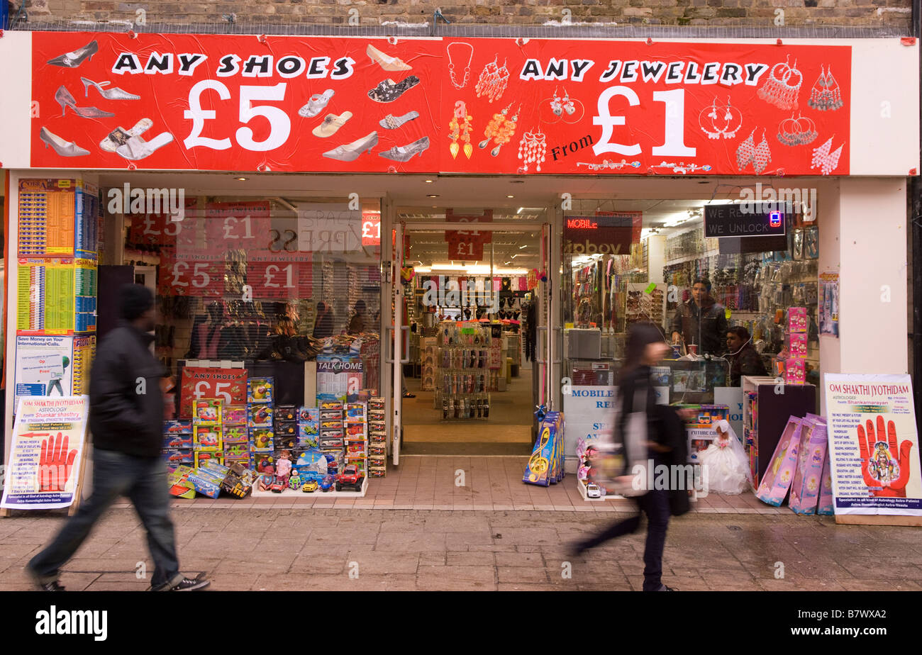 Cheap Shoe Shop High Street Hounslow Middlesex Uk Stock