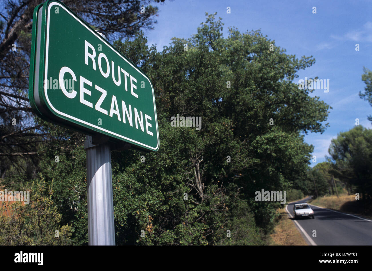 route cezanne road sign road from le tholonet to mont