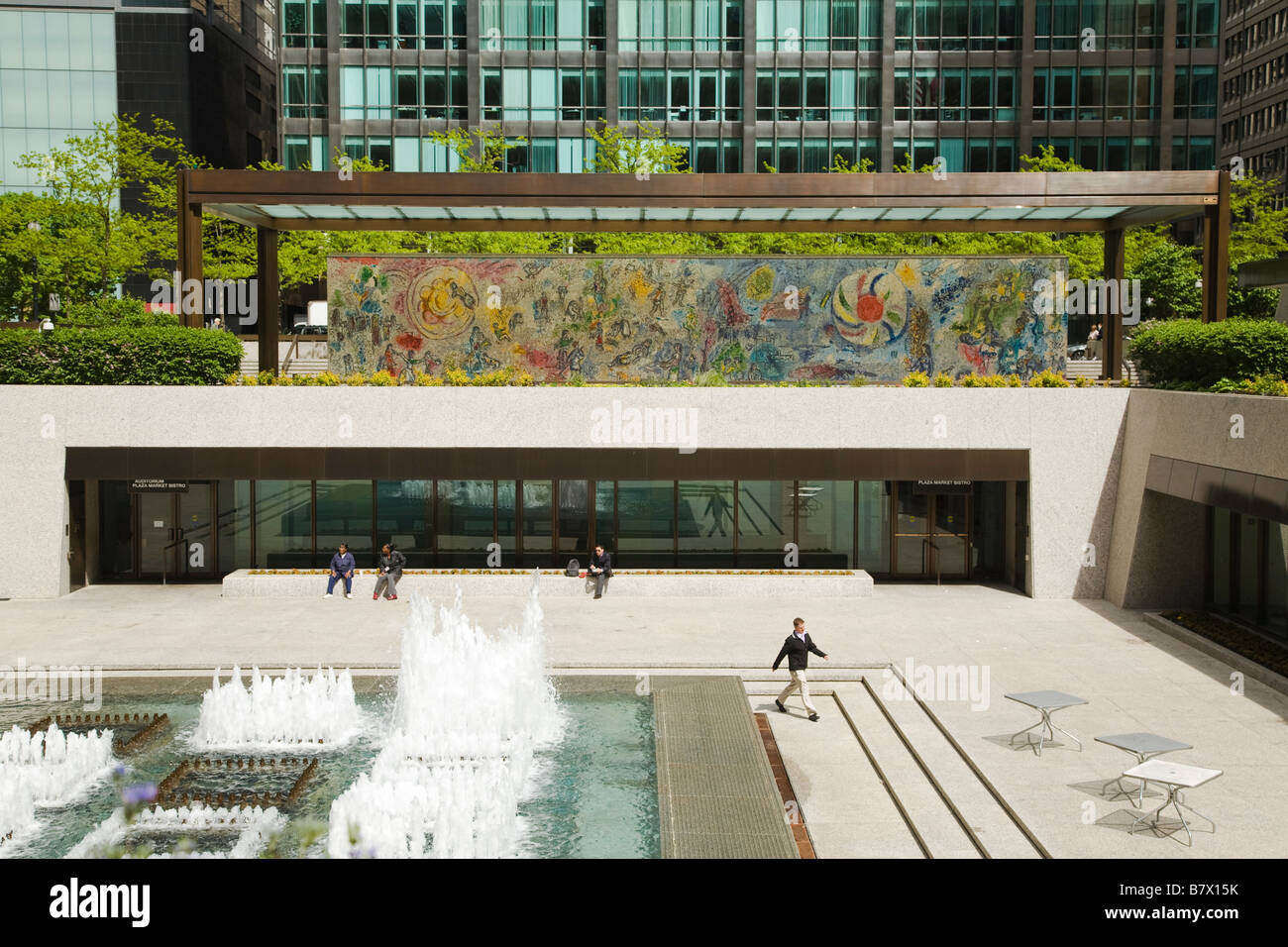Illinois chicago four seasons mosaic mural by marc chagall for 4 seasons mural