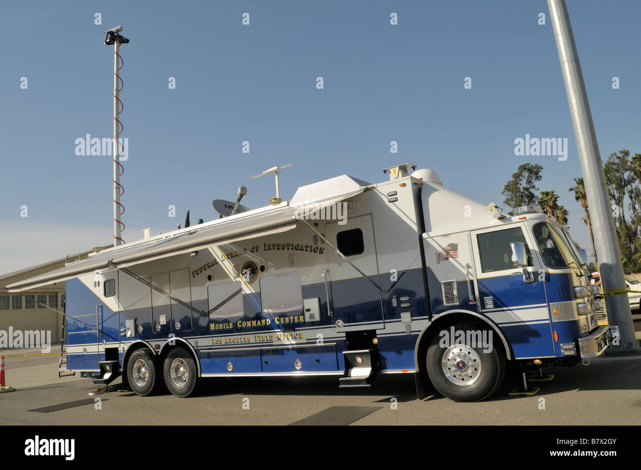 Rare view of a probably brand new Mobile Command Center operated