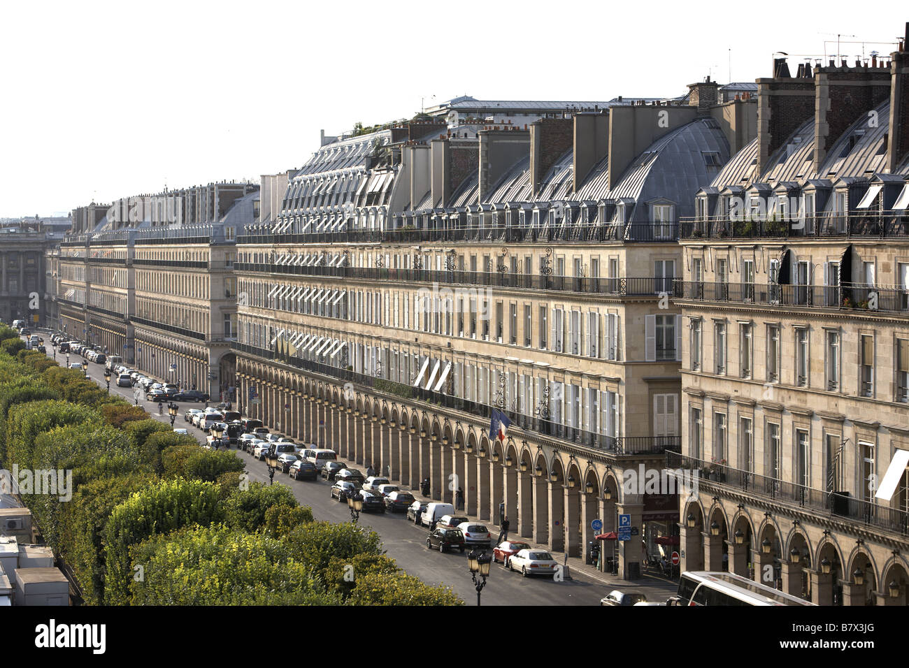 aerial view rue de rivoli paris france stock photo royalty free image 22086584 alamy. Black Bedroom Furniture Sets. Home Design Ideas