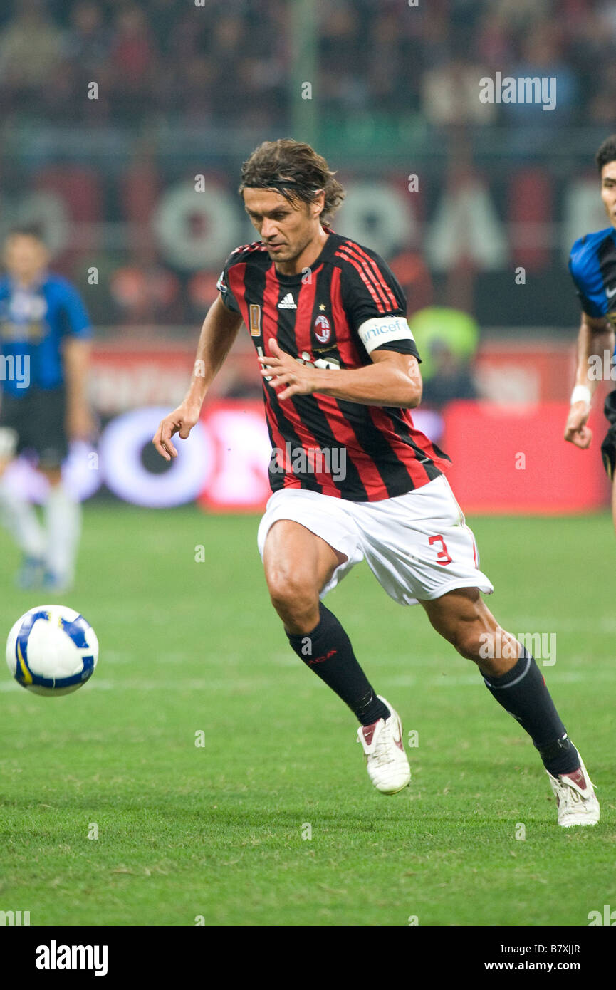 Paolo Maldini Milan SEPTEMBER 28 2008 Football Italian Serie A