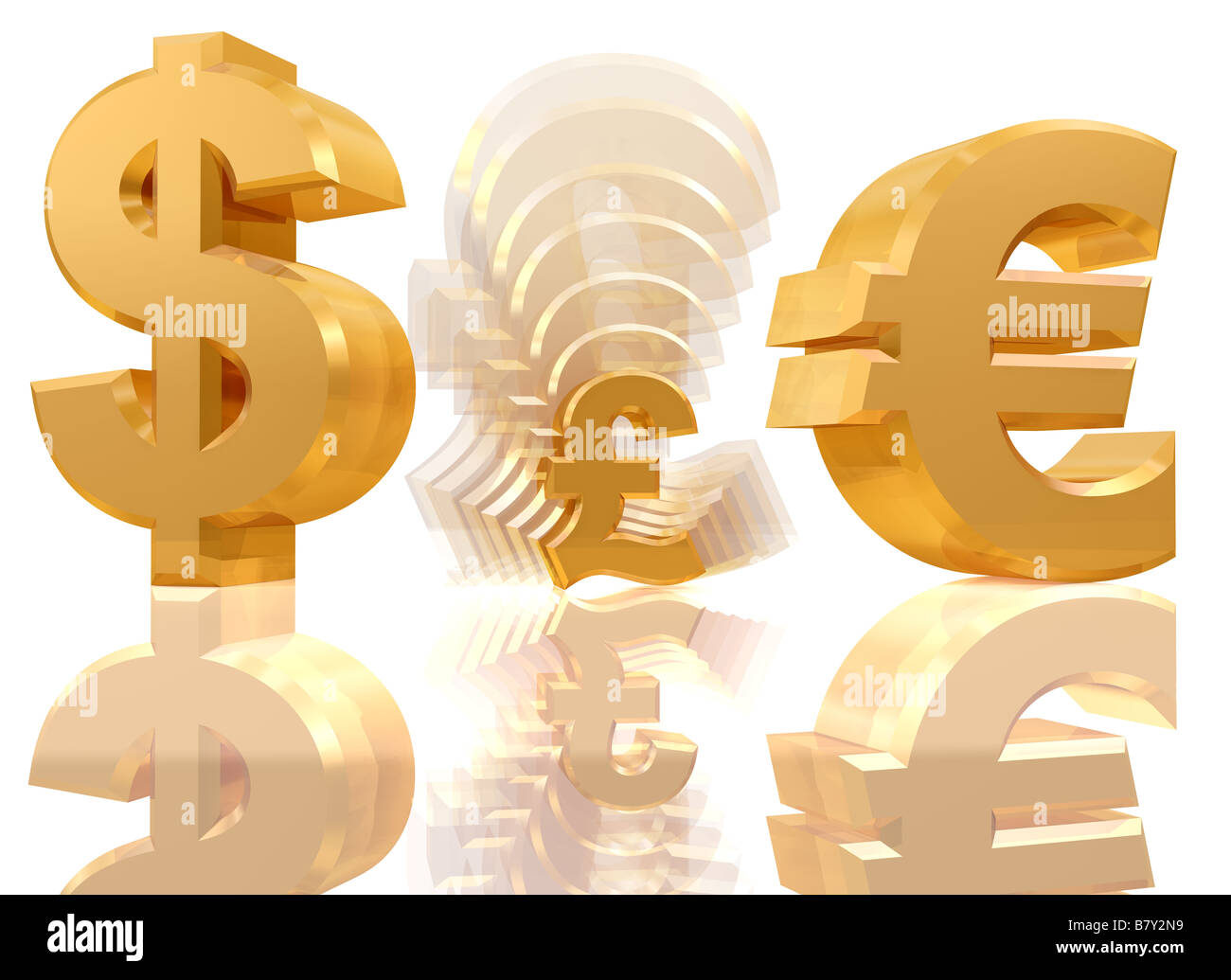Illustration of a shrinking pound sign in between a dollar and a illustration of a shrinking pound sign in between a dollar and a euro symbol buycottarizona Choice Image