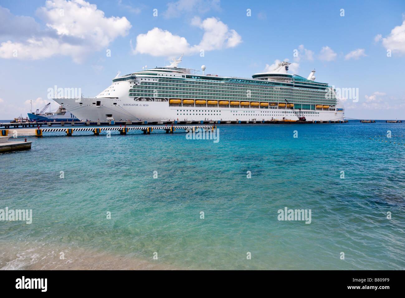 royal caribbean navigator of the seas docked at the port of