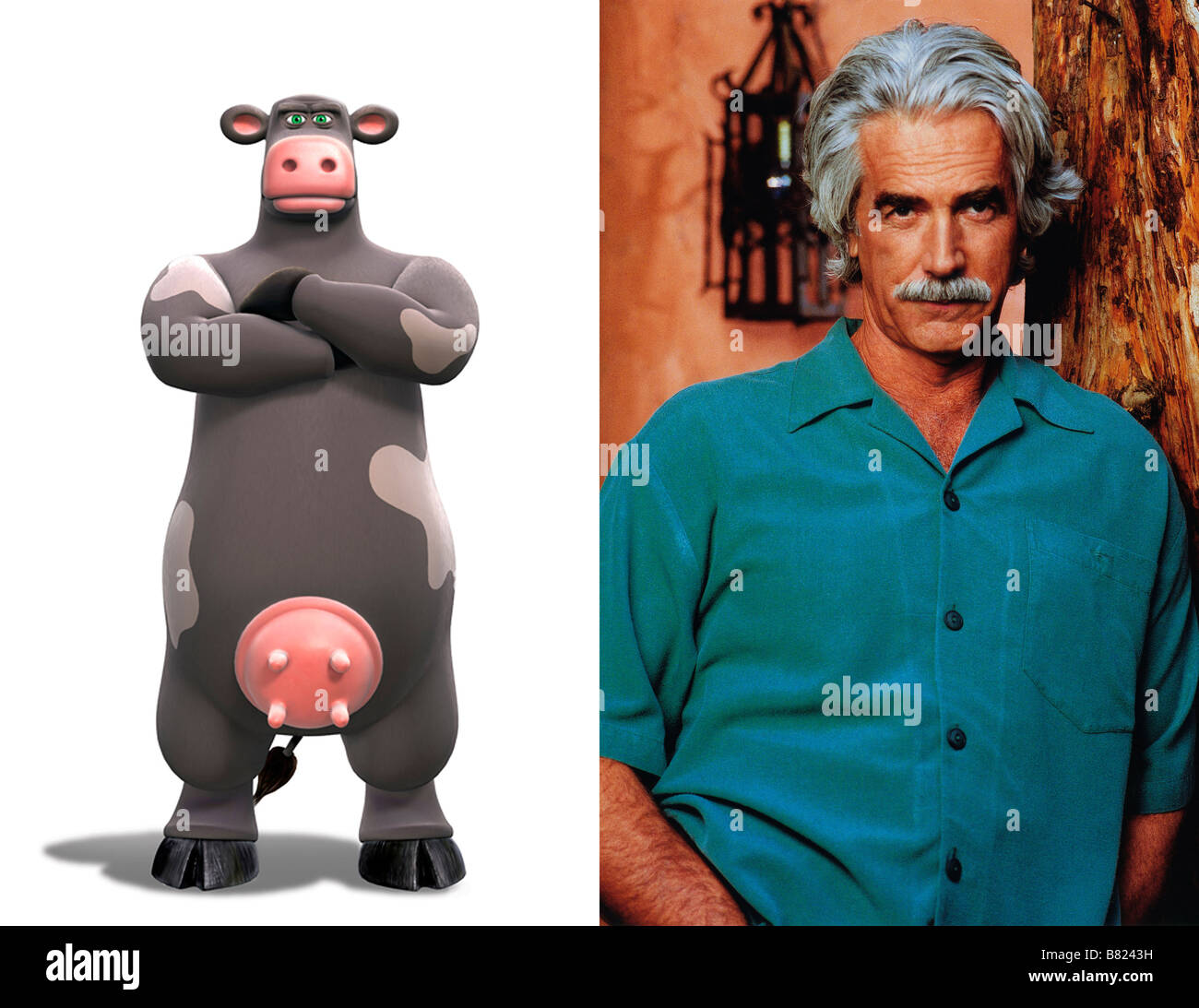 Sam elliott ben the cow voice dans la ferme en folie barnyard 2006 stock photo royalty free - Vache en folie ...