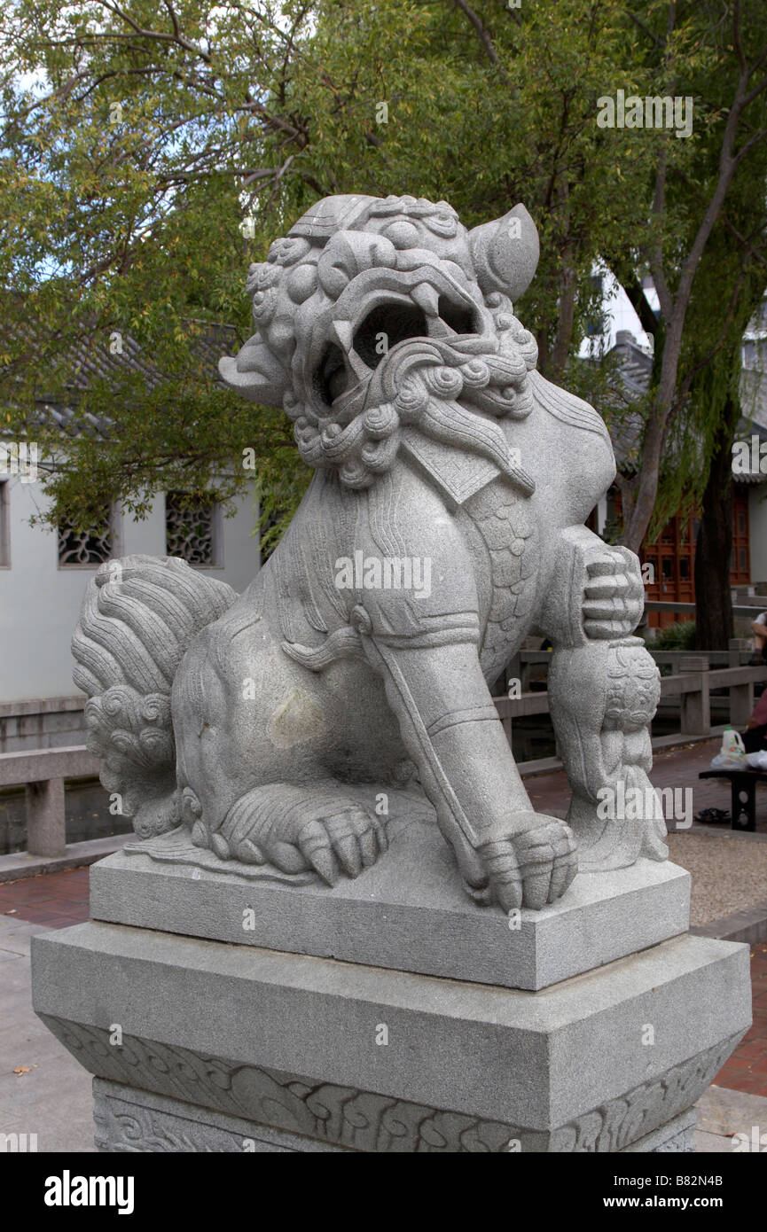 Captivating Lion Statue At The Entrance To The Chinese Garden Of Friendship In  Chinatown, Darling Harbour