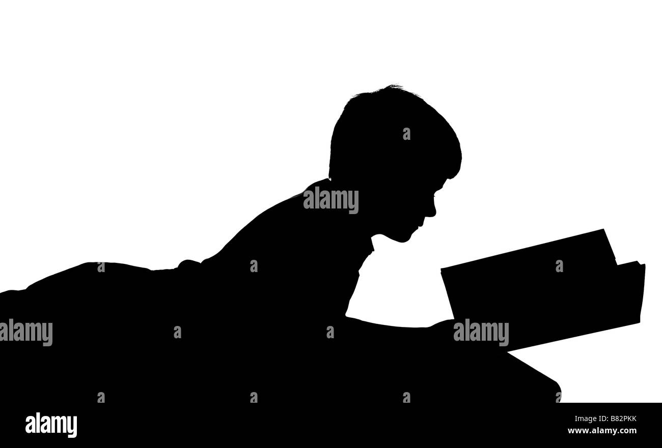 Laying down silhouette