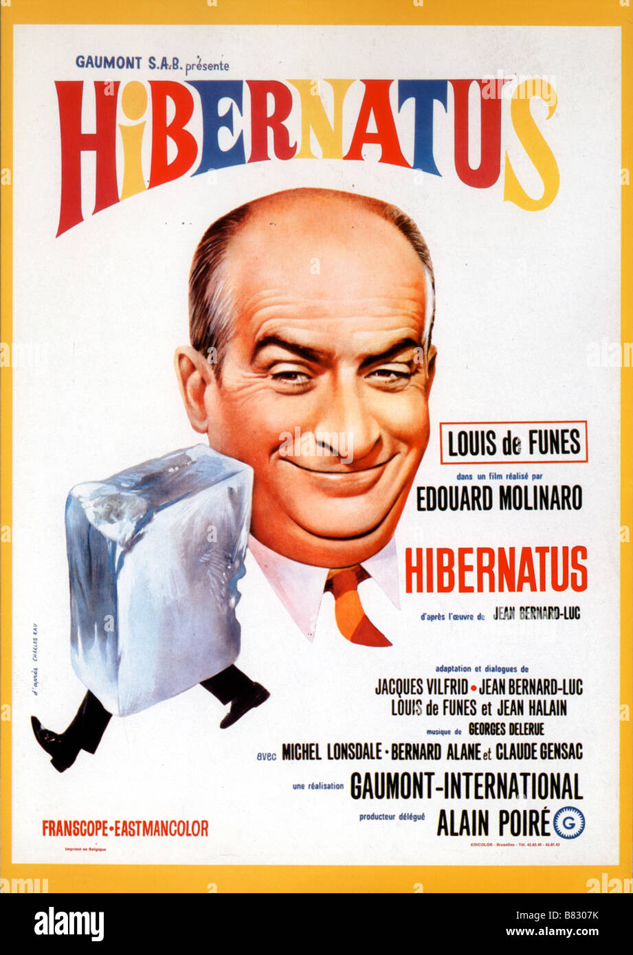 Louis de Funès affiche poster Director Edouard Molinaro Stock Photo ...