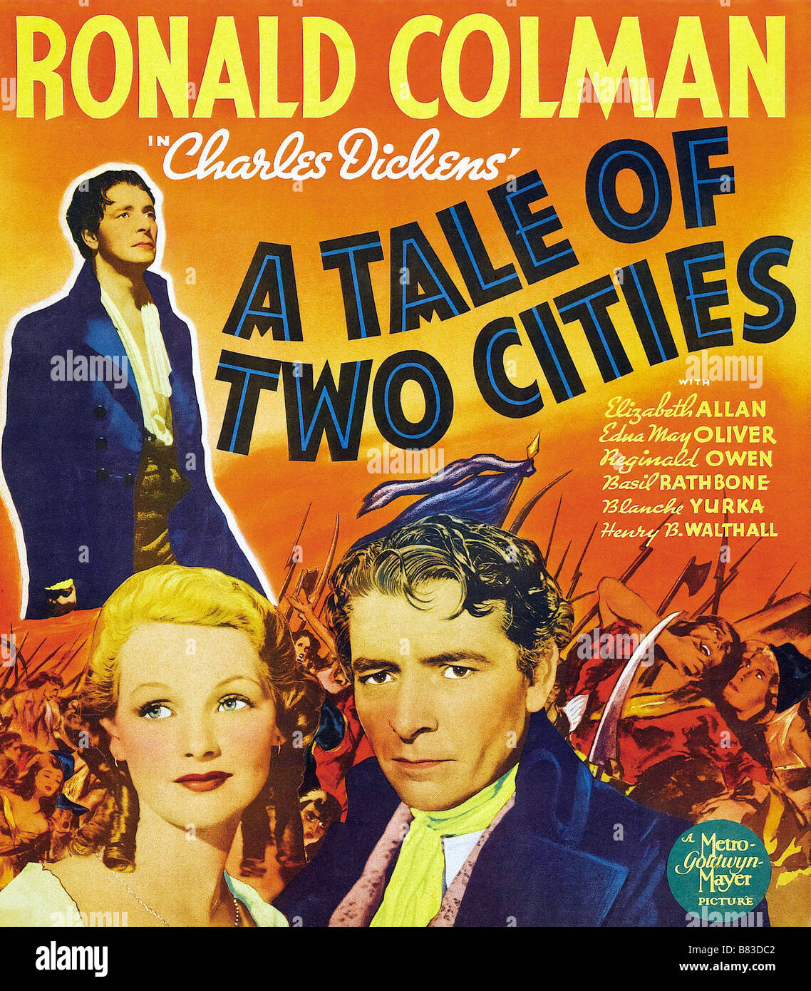 Allan as lucie manette colman had long wanted to play sydney car - Marquis De Saint Evremond Le A Tale Of Two Cities 1935 Usa Ronald Colman Affiche Poster