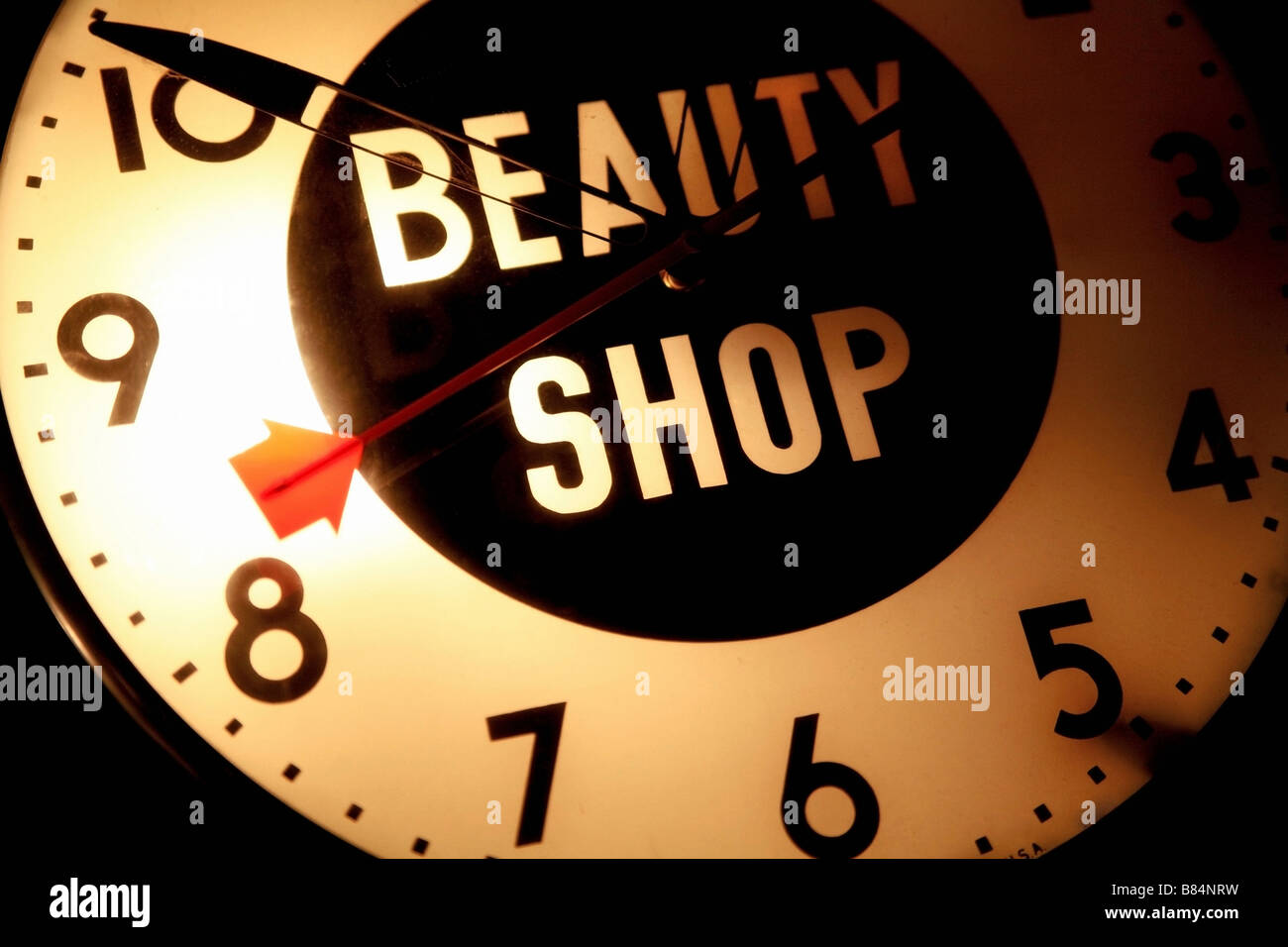 Beauty Shop Sign And Clock